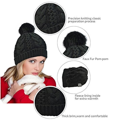 c03894d3abe Gorros Terra Winter Hand Knit Beanie Hat With Fau Buho Store ...