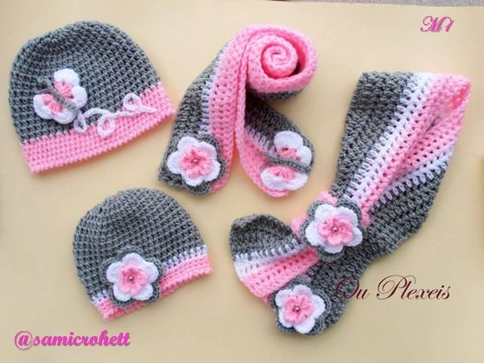 Gorros Y Bufandas De Niña Tejido A Crochet -   35.000 en Mercado Libre 5d982e97f76