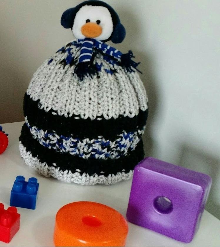 5562ee513a984 Gorro touca De Trico Pinguim - Circulo - Kids - Menino - R  55