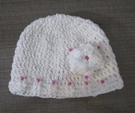 415613387a414 Gorro touca Infantil De Crochê Feminino - R  40