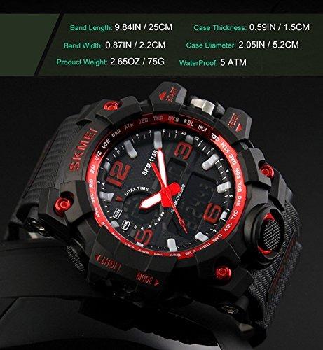Gosasa Big S Shock Militar Digital Reloj Dial Para eEI9YDH2W