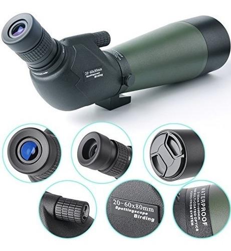 gosky 20-60 x 80 porro prisma spotting scope - monocular