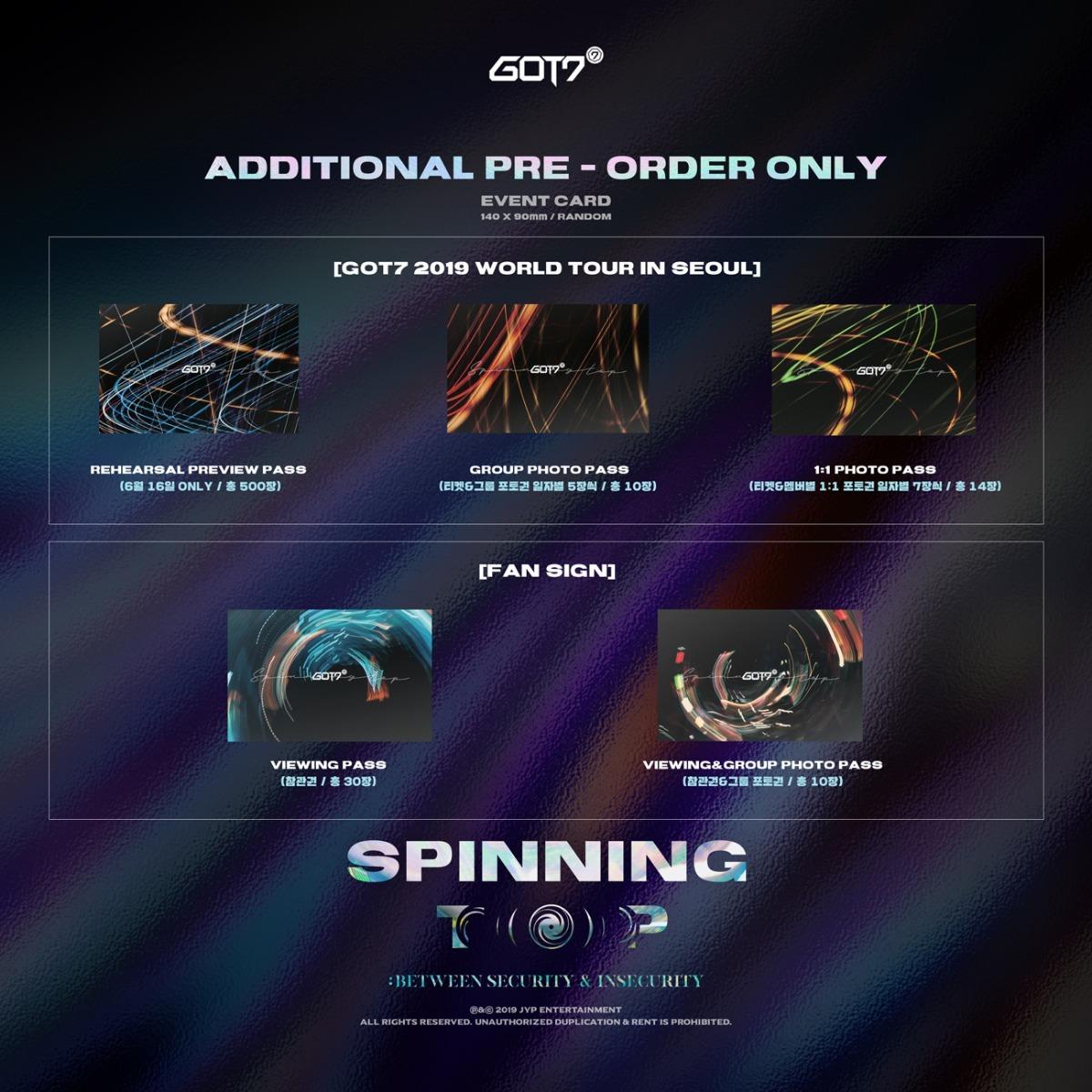 Got7 Spinning Top Kpop Album Preventa Llega 5 De Junio