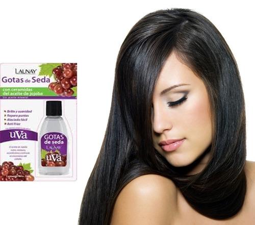 gotas de seda uva y ceramidas cabello espectacular silika