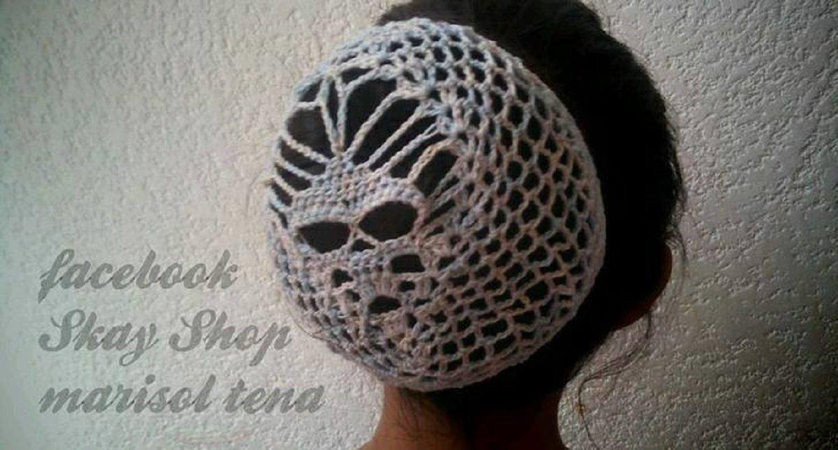 0105717065fd5 Goth Skull Crochet Accesorios Para El Cabello Tejidos Skay ...