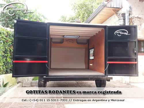 gotita rodante cargo / trailer batan cerrado cuatriciclo