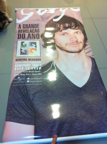 gotye - poster lindo - tamanho 1,10x0,55 cm grande! nacional
