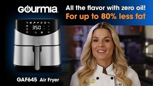 gourmia freidora de aire digital 6qt air fryer 1700w 8 modos