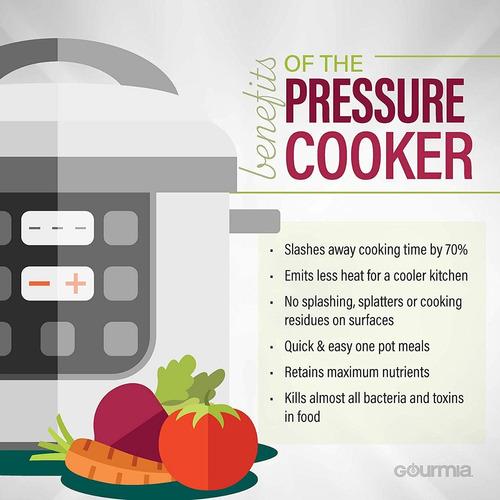 gourmia gpc800  olla de presion digital 13 ajustes 8 qt.