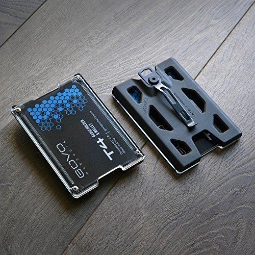 capacidad para 1 /– 4 tarjetas Soporte para tarjetas de identificaci/ón con clip de metal y 4 ranuras para tarjetas