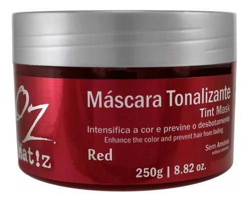 goz máscara tonalizante red / vermelha oz 250g - sem amônia
