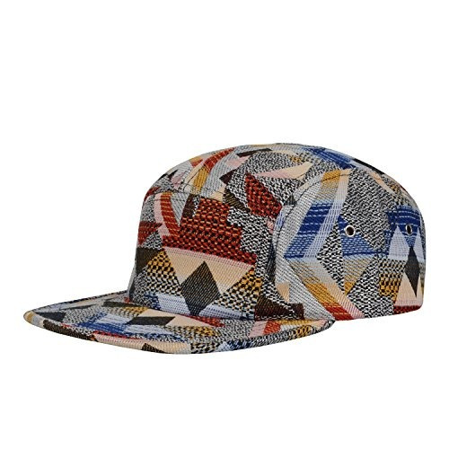 gp accesorios patrón multi color raya 5 panel sombrero grand