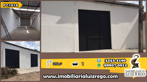 gp1616- aluga galpão em messejana, 250 m2