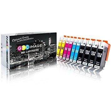 gpc imagen de sustitución  tinta para hp 564xl (4 negro, 2