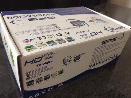 gps 7 con soft mapear igo tv digital + camara marcha atras