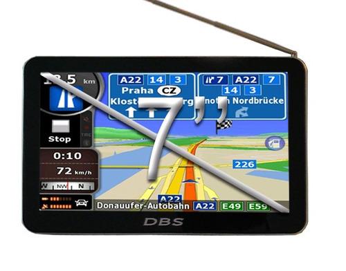 gps 7 pulgadas dbs 7900 tv digital hd radares zonas peligros