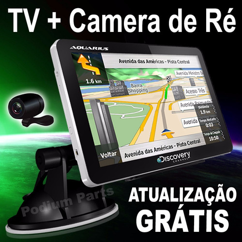 gps aquarius discovery 4.3'' slim 3d tv digital camera de ré