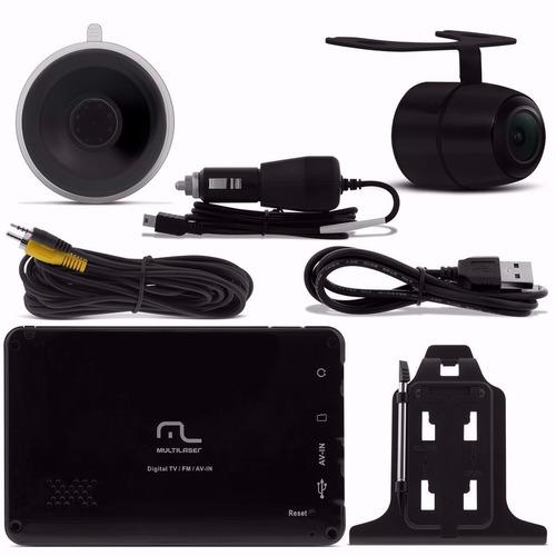 gps automotivo 4,3 câmera ré tv digital  novo modelo outlet