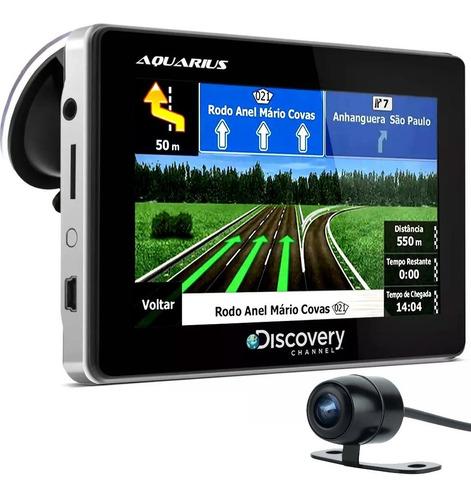 gps automotivo 4.3 tv digital 3d radar câmera ré discovery