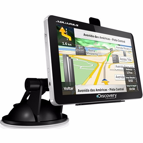 gps automotivo aquarius 4.3 polegadas aviso radar - novo