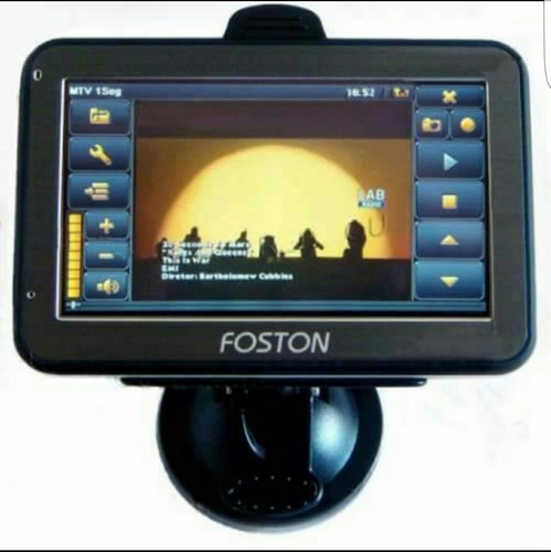 gps automotivo foston 3d 463 tela 4.3 avisa radar tv digital