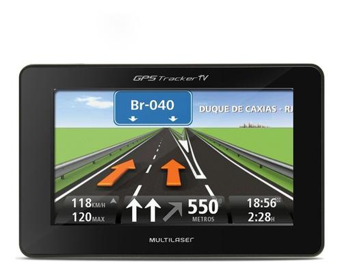 gps automotivo multilaser tracker tv gp034 4.3 polegadas tv