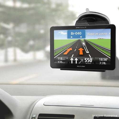 gps automotivo multilaser tv digital 4.3 pol alerta de radar