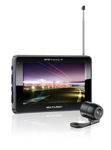 gps automotivo tela 5 câmera de ré tv fm gp037