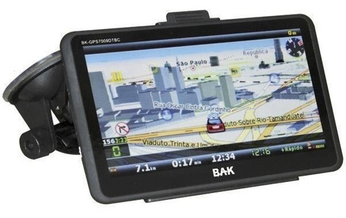 gps bak 7'' tv digital fm 3d avisa radar bluetooth + ré