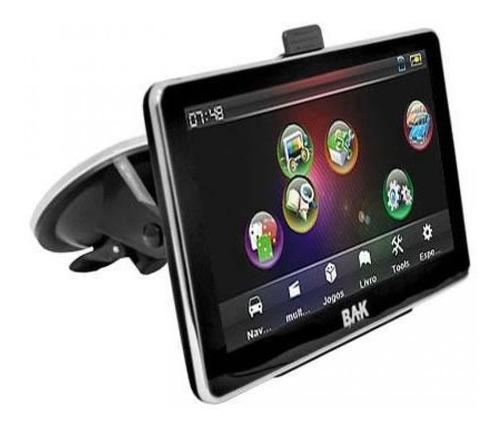 gps bak bk-gps7009dtv camera de ré - tv digital 7 polegadas