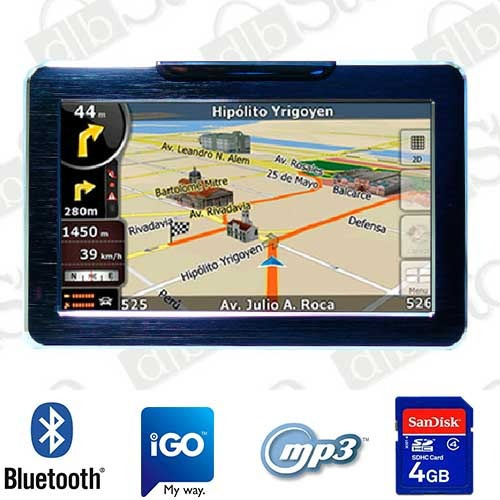 gps dbs 5880 bluetooth mp3 mp4  4gb + funda y envio gratis!!