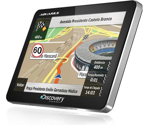 gps discovery channel 4.3 slim aquarius e alerta radar touch