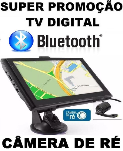 gps foston tv digital bluetooth câmera de ré avisa radar  3d