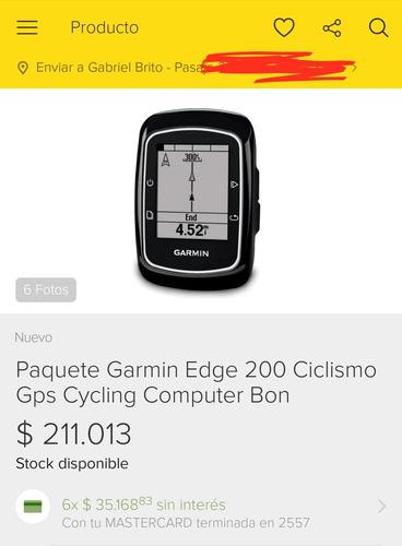 gps garmin edge 200 para bicicleta