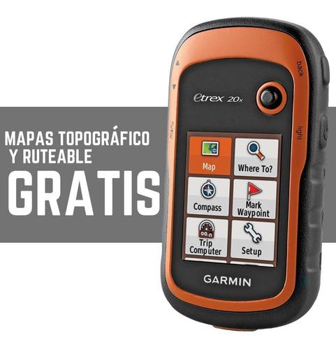 gps garmin etrex 20x navegador mapas colombia  nuevo modelo
