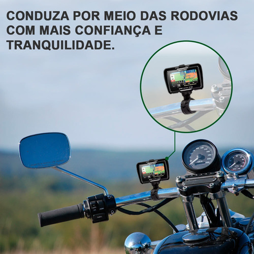 gps moto honda shadow 600vt c tela 4.3 bluetooth prova dágua