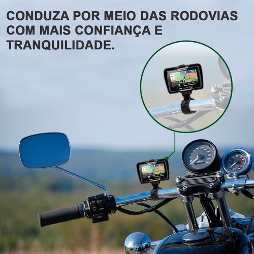 gps motocicleta moto com suporte 4.3 bluetooth prova dágua