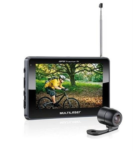 gps multilaser 4.3  traker2 c/câmera ré gp035 mania virtual