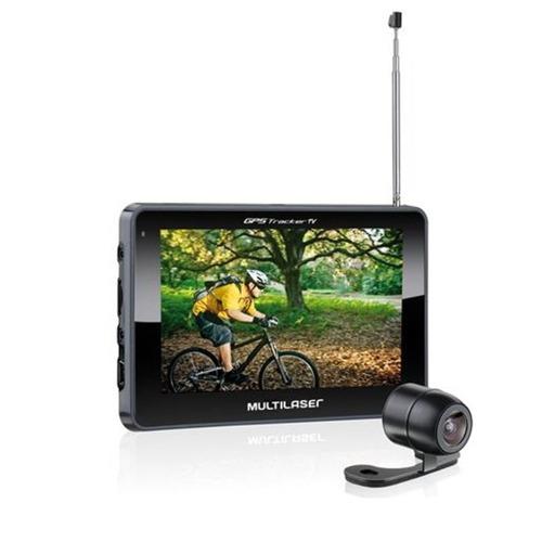 gps multilaser tela 4.3 com câmera de ré tv digital rádio fm