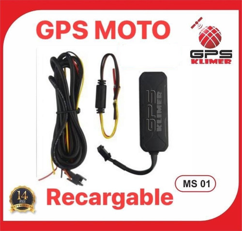 gps recargable para vehículos y motos