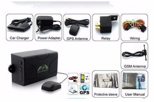 gps tracker 104 localizador rastreador satelital de batería