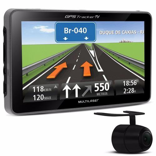gps tracker 3 tela 7.0 fm e tv câmera de ré gp039 multilaser