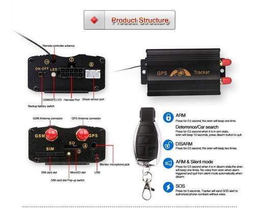 gps tracker para auto tk103 localizador rastreador satelital