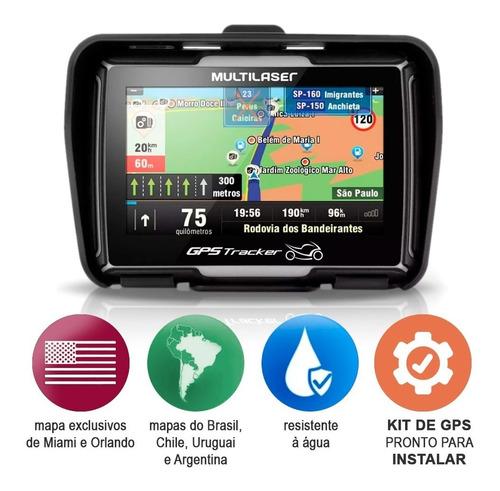 gps tracker para moto tela 4.3 prova d'agua com atualização