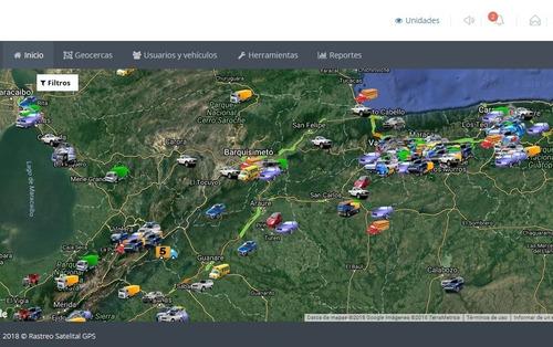 gps tracker, plataforma o monitoreo web rastreo satelital