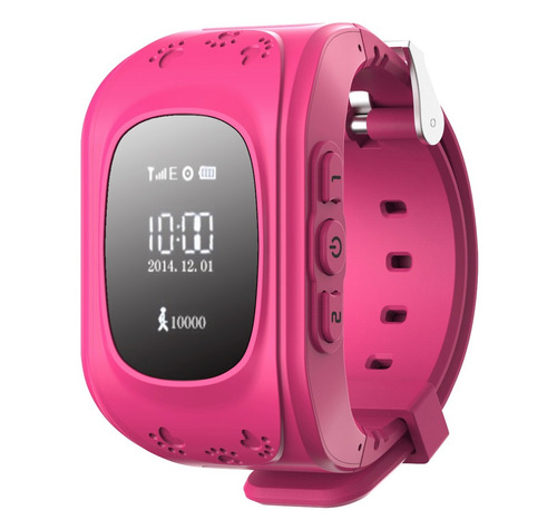 gps tracker rastreador niños smartwatch con celular rosa