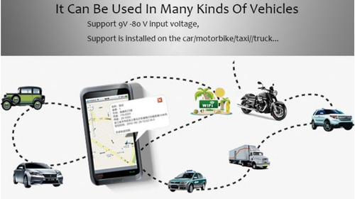 gps tracker vehículo moto carro localizador app con batería