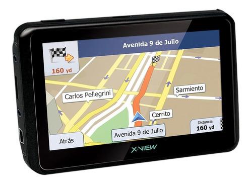 gps x-view venture go 4.3 sistema igo alertas radares camaras satelital