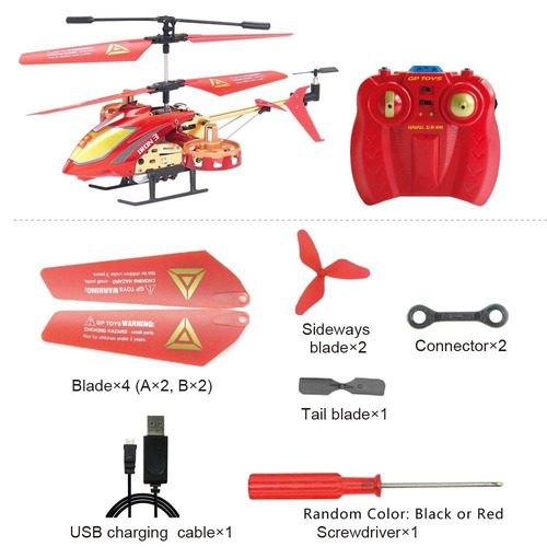gptoys mando a distancia helicóptero 4 canales rc helicópter