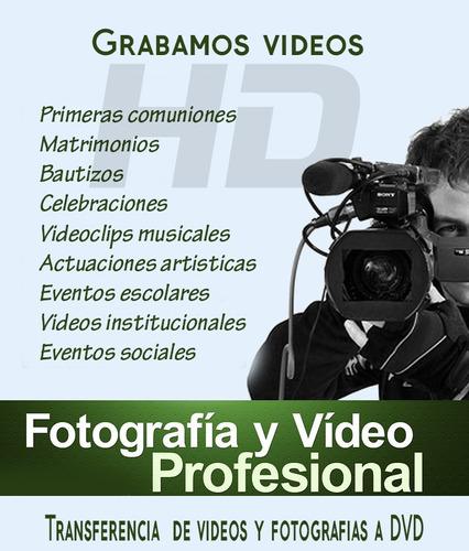 grabacion de videos hd de eventos.